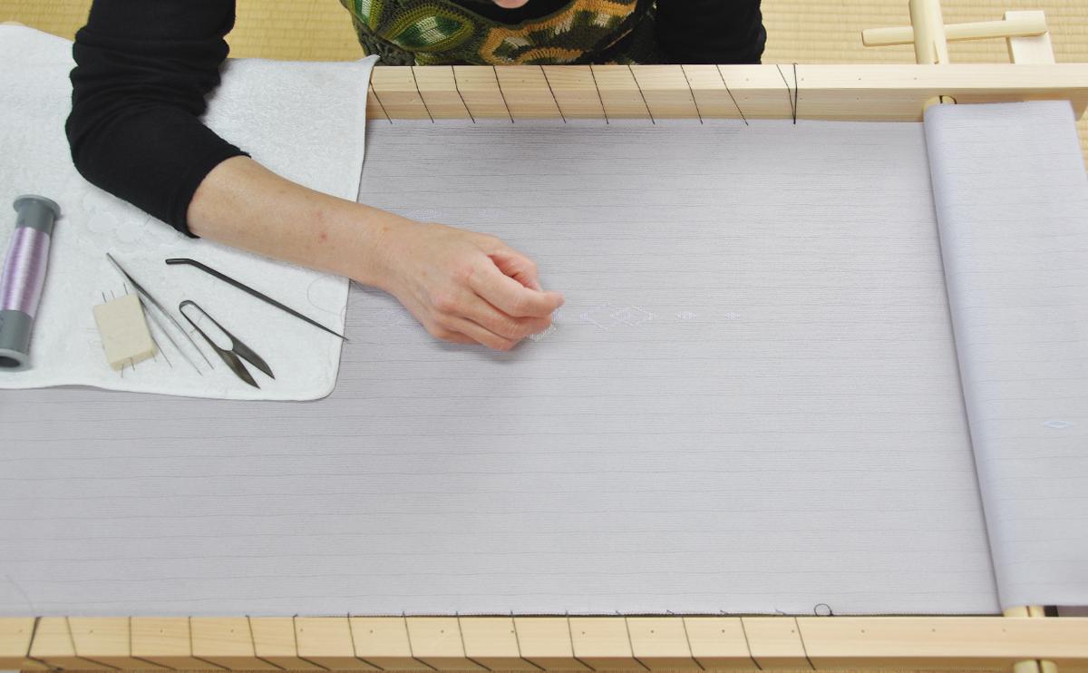 日本刺繍の刺繍台